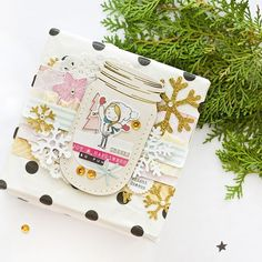 We're sure your gift wrapping is well under way, but if you're looking for a cute way to embellish, head to the blog! @jcchris created this beautiful gift and it's totally something we'd love to receive! #cratepaper #snowandcocoa #christmas2016