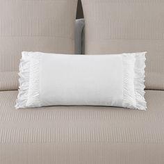 Echelon Home Montauk White Decorative Throw Pillow (White) (Cotton, Solid Color) Accessories Store, Decorative Accessories, White Bedding, Accent Pieces, Pillow Inserts, Decorative Throw Pillows, Bed Pillows, Pillow Cases, Furniture Design