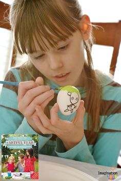 Easter fun for kids! Stained-glass Easter eggs and birds nest cookies!