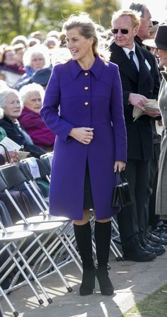 Sophie, Countess of Wessex at The National Memorial Arboretum on October 21, 2014 in Stafford, England.