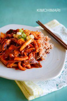 OJingeo Bokkeum (Korean spicy squid stir fry)