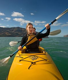 Kayaking is one of the best ways to explore thousands of kilometres of New Zealand's magnificent coastline and inland waterways. Surrounded by sea and lakes, New Zealand provides you with plenty of opportunities to Kayak. New Zealand Adventure, Skydiving, Canterbury, Extreme Sports, Rafting, Kayaking, Boat, Explore, Travel