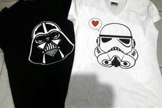 Playera pareja Star wars