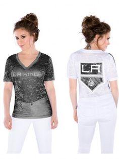 LA Kings Ladies Touch by Alyssa Milano Super Fan III Burnout T-shirt - Shield