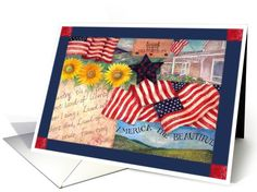Independence Day Birthday Greeting Card