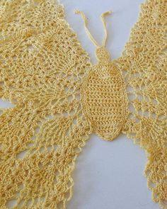 Beautiful Butterfly Doily Pattern