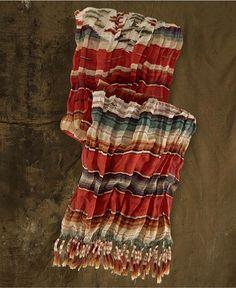 Denim & Supply Ralph Lauren Scarf, Stripe Cotton Fringe
