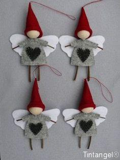 DIY Christmas Activities & Decoration - Home Decor Ideas Diy Christmas Activities, Christmas Projects, Felt Crafts, Holiday Crafts, Diy Crafts, Christmas Angel Crafts, Felt Christmas Ornaments, Noel Christmas, Homemade Christmas