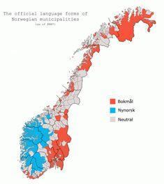 Language demographic of Norway Lappland, Alaska, Norway Language, Trondheim Norway, Fjord, Lillehammer, Thinking Day, Lofoten, Cartography