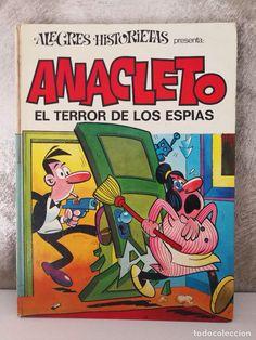 ANACLETO EL TERROR DE LOS ESPIAS Caricature, Shetland, Favorite Cartoon Character, Magazines For Kids, Cartoon Characters, Fictional Characters, I Love Books, Nostalgia, The Past