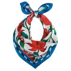 scarf | waratah - red + blue by Julie White