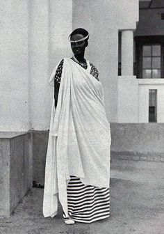 Africa | Princess Emma Bakayishonga, daughter of King (Mwami)  Yuhi wa V Musinga and sister of King Mutara III Rudahigwa.  Rwanda  || Date and photographer unknown