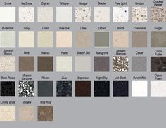 Caesarstone colours