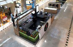 Маленький магазин сока в Перте, Австралия: множество функций