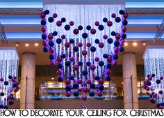 1000 images about ceiling decor on pinterest confetti for Creative ways to hang christmas lights indoors