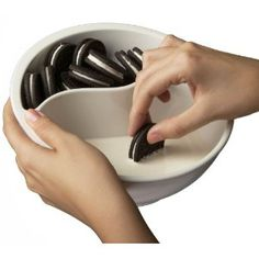 The Never-Soggy Cereal Bowl - it would be for oreos, definitely.