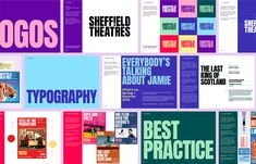 Brand New: New Logo and Identity for Sheffield Theatres by Cafeteria Identity Design, Brand Identity, Visual Identity, Personal Identity, Personal Logo, Typography Logo, Logo Branding, Modern Typography, Corporate Branding