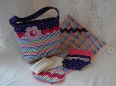 Diaper Bag and Accessories for Dolls Child's Toy by thatssewholly