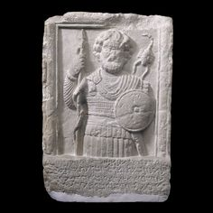 Limestone relief of the god Shadrafa, from Palmyra, Syria, AD 55