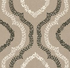 Parterre (PDW8105) - Today Interiors Wallpapers - A delicate floral trail design on a light washed effect background. Shown in white and brown trail on a metallic silver background. Also available in other colour ways. Please ask for sample for true colour match.