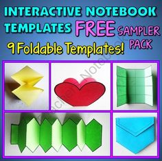 Interactive Notebook Templates - Free Sampler Pack - 9 Templates for Commercial and Personal Use from Tangstar Science on TeachersNotebook.com -  (9 pages)  - Interactive Notebook Templates - Free Sampler Pack - 9 Templates for Commercial and Personal Use