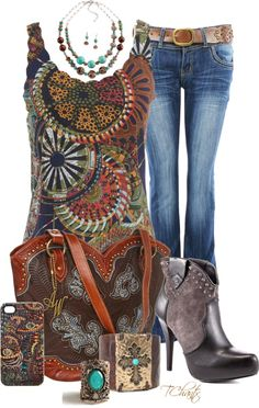 """Boot scoot boogie"" by tchantx on Polyvore"