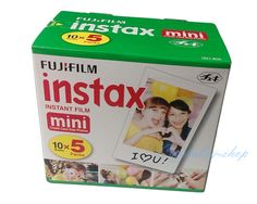 5 Pack Original Fujifilm Instax Mini Film 8 7s 25 50s 90 Polaroids 300 Instant White Edge Photo Paper Fuji Film Camera 50pcs