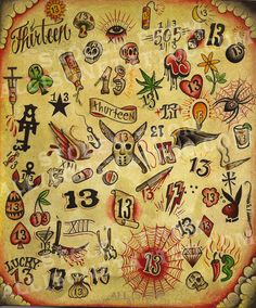 Friday the 13th tattoo designs tats pinterest 13 for Friday the 13th tattoo specials near me