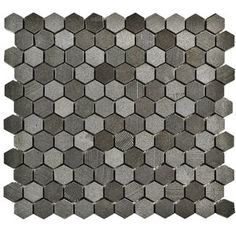 "Formation 1"" x 1"" Natural Stone Mosaic Tile in Black"