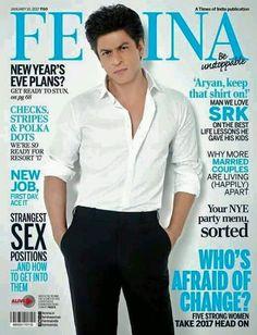 SRK posed for #FEMINA Magzine