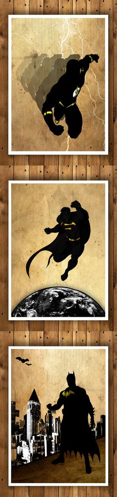 Justice League Posters Batman Flash Superman by MultiColorArt
