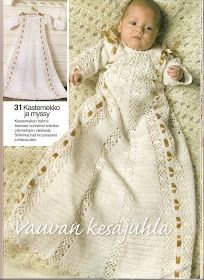 Villa Vallaton: Virkatun kastemekon ohje Girls Dresses, Flower Girl Dresses, Knit Crochet, Villa, Victorian, Knitting, Wedding Dresses, Crochet Ideas, Baby