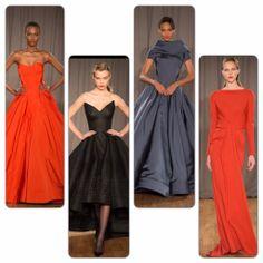 Zac Posen oscar gowns - runway report on redsoledmomma.com