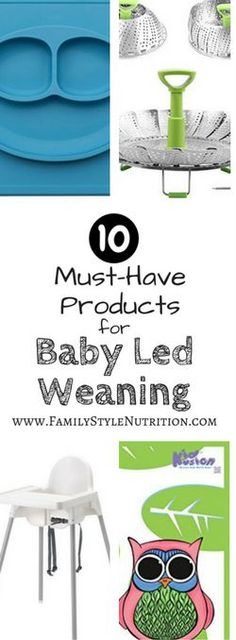 10 Baby Led Weaning Must-Haves – Family Style Nutrition My Top 10 Must-Haves for starting Baby Led Weaning! A MUST READ for first time parents, from FamilyStyleNutrit… Baby Must Haves, Baby Registry Must Haves, Baby Led Weaning First Foods, Baby Weaning, Baby Feeding Chart, Storing Baby Clothes, Baby Girl Tops, First Time Parents, Baby Hacks
