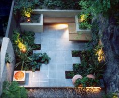 modern patio, love the benches
