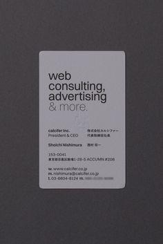 Business Card for calcifer Inc.