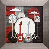 Found it at Wayfair - Rock n Roll Drums Framed Graphic Art
