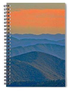 Mountains At Evening Spiral Notebook by Allen Nice-Webb Notebooks For Sale, Basic Colors, Landscape Photos, Wonderful Images, Color Show, Galleries, Colorful Backgrounds, Spiral, Fine Art America