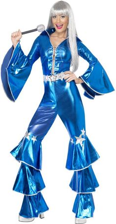 ABBA OUTFIT | ... Ladies  50s, 60s, 70s, 80s & 90s  70s  Blue 70s Abba Costume