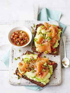Avocado on Toast with Smoked Salmon / Olive Magazine
