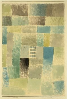 "amare-habeo: "" Paul Klee (Swiss, First house of a settlement (Erstes Haus einer Siedelung), 1926 Oil on canvas "" Klimt, Abstract Watercolor, Abstract Art, Paul Klee Art, Guache, Modern Art Paintings, Statues, Modern Artists, Wassily Kandinsky"