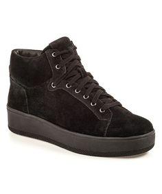 Look at this #zulilyfind! Black Jackstar Suede Hi-Top Sneaker by J/Slides #zulilyfinds
