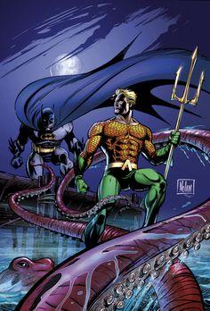 Aquaman and Batman by Graham Nolan
