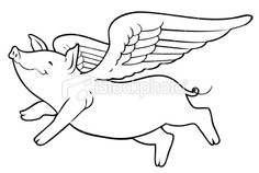 I really think this is cute and I want to incorporate the idea of a flying pig somewhere in my artwork like a hidden message