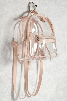 Where To Buy Clear Backpacks? Clear Backpacks, Cute Mini Backpacks, Stylish Backpacks, Girl Backpacks, Bags For Teens, Girls Bags, Transparent Bag, Accesorios Casual, Clear Bags