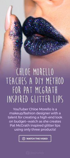 Chloe Morello Teaches a DIY Method for Pat McGrath Inspired Glitter Lips