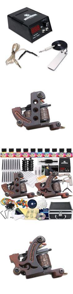 Complete Tattoo Kit Professional Tattoo Liner Shader Machines Tattoo Guns 10 Color Inks Tattoo Power Supply