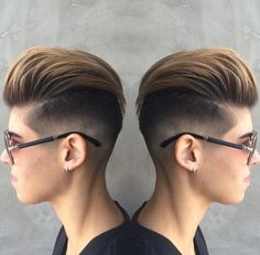 Stellar fade work by Stella Stylist and Wella Educator Carrie. @badsisteratx //// Finishing Product Oribe Rough Luxury Soft. ////#nothingbutpixies #fade #faded #fadedhair #atxstyle #shorthairdontcare #redstellasalon #pixiecut #randco #thecultureofhairdressing #oribeobsessed #oribe #kerastaseusa #texture #hairstylist  #modernsalon @modernsalon #americansalon @americansalon #readyforfall #atxhair #Austinhair  #blonde #blondehair #style #cool #doubleface