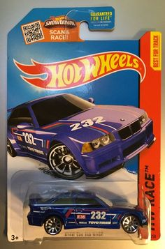 HW Race BMW E36 M3 3-Series Race blue racing Hot Wheels 2015 146/250 10SP   | eBay