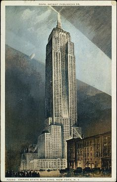 Detroit Publishing Company (American). Empire State Building, New York, NY,1931–32. The Metropolitan Museum of Art, New York. The Jefferson R. Burdick Collection, Gift of Jefferson R. Burdick (Burdick 417, p.11r(5)) #newyork #nyc